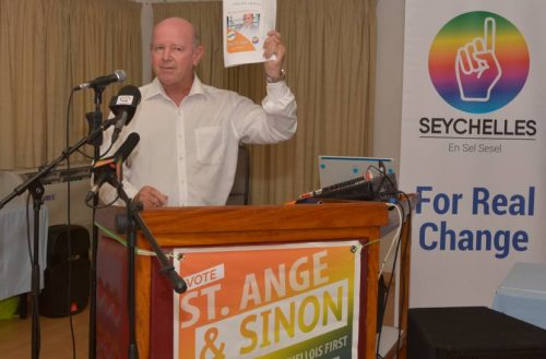 One Seychelles launches its contract with the People of Seychelles - ALAIN ST ANGE - ONE SEYCHELLES